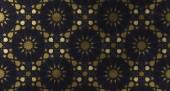 Pozadí návrhu na základě tradiční orientální grafické motivy. Islámská dekorativní vzor s golden umělecké texturou. Arabský etnické mozaiky s prokládání linie a geometrické ornamenty kachlová