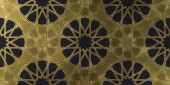 Fotografie Background design based on traditional oriental graphic motifs. Islamic decorative pattern with golden artistic texture. Arabian ethnic mosaic with interlacing lines and geometric tiled ornaments.