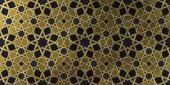 Fotografie Pozadí návrhu na základě tradiční orientální grafické motivy. Islámská dekorativní vzor s golden umělecké texturou. Arabský etnické mozaiky s prokládání linie a geometrické ornamenty kachlová