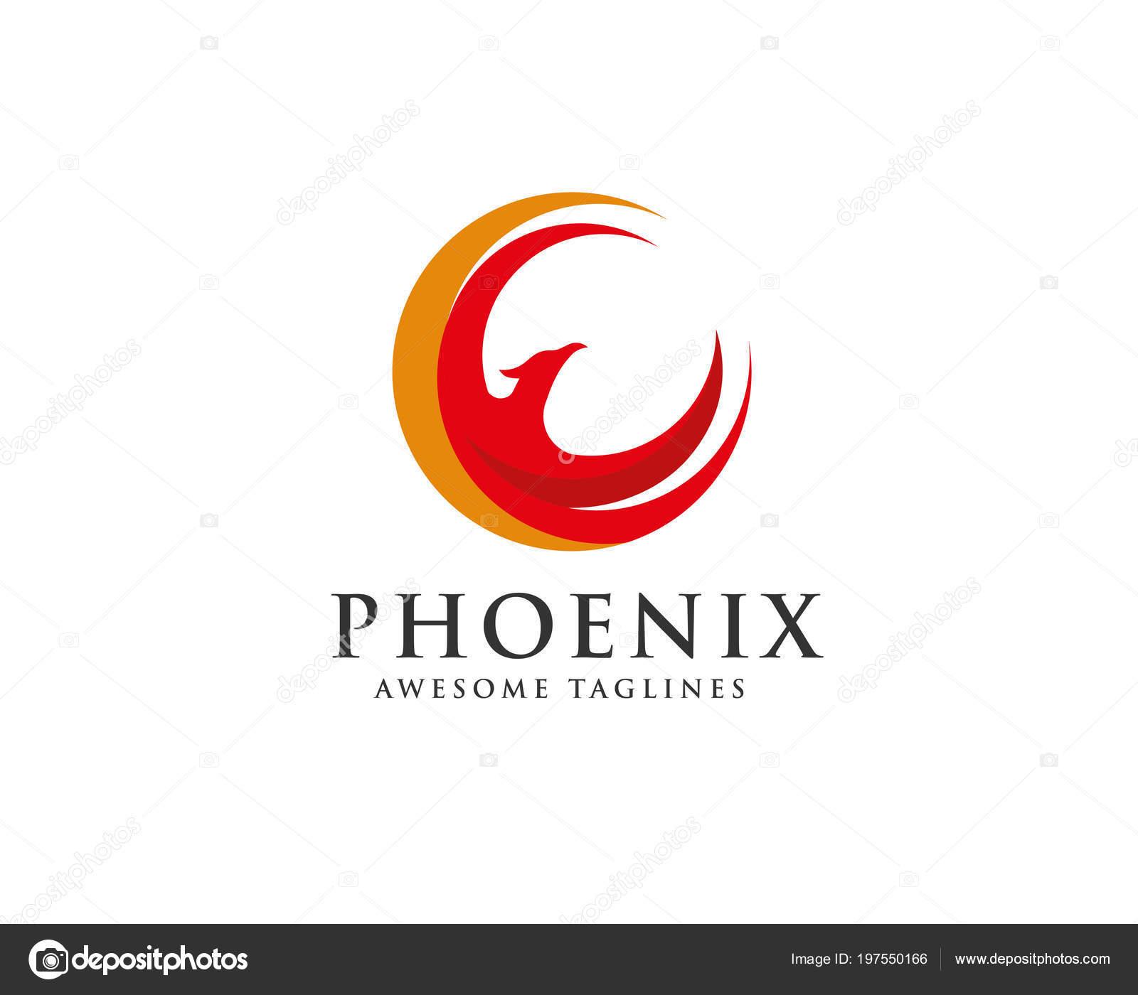 Phoenix Circle Logo Vector Circle Eagle Head Vector Icon Logo ...