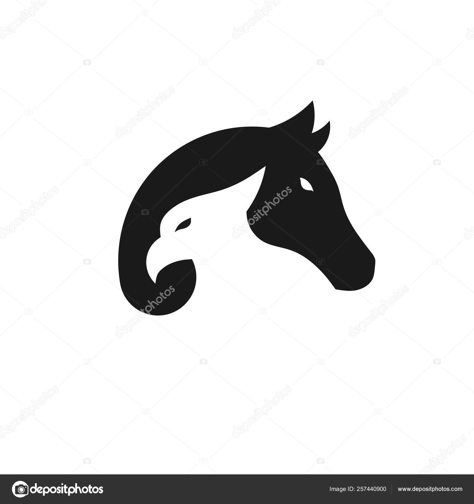 Creative Simple Eagle Horse Logo Vector Concept Stock Vector C Krustovin 257440900