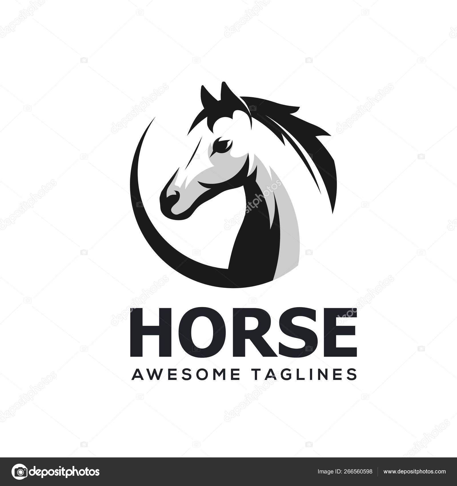 Simple Horse Head Horse Head Abstract Circle Simple Logo Template Stock Vector C Krustovin 266560598