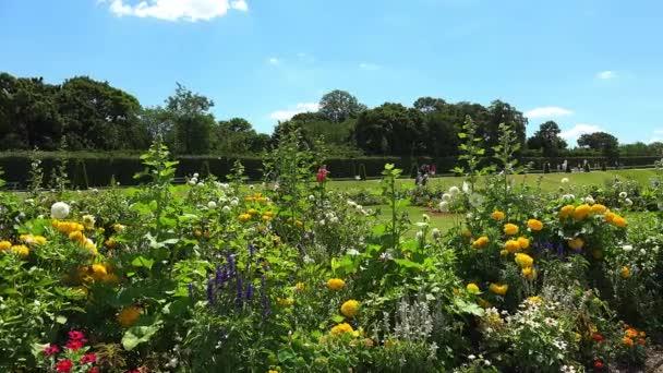 Beautiful scene in the garden of Belvedere Palace in Vienna