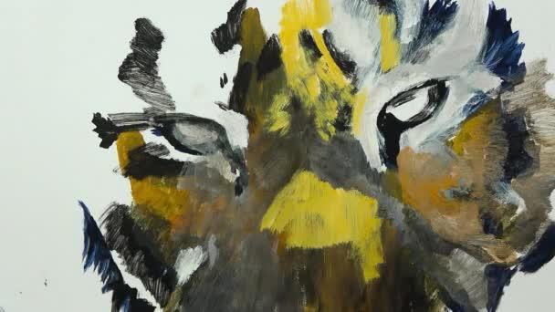 Umělecké ruční malba tygří oka, video session, časová prodleva