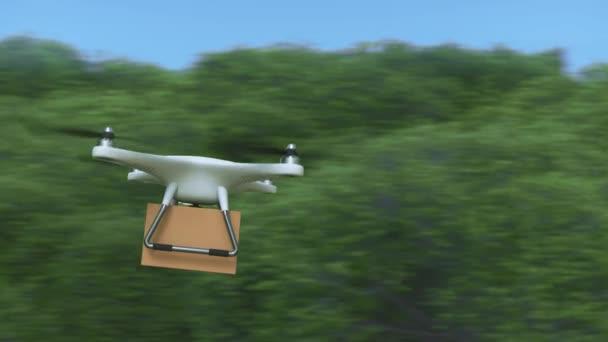 Quadrocopter DRONY přináší balíček