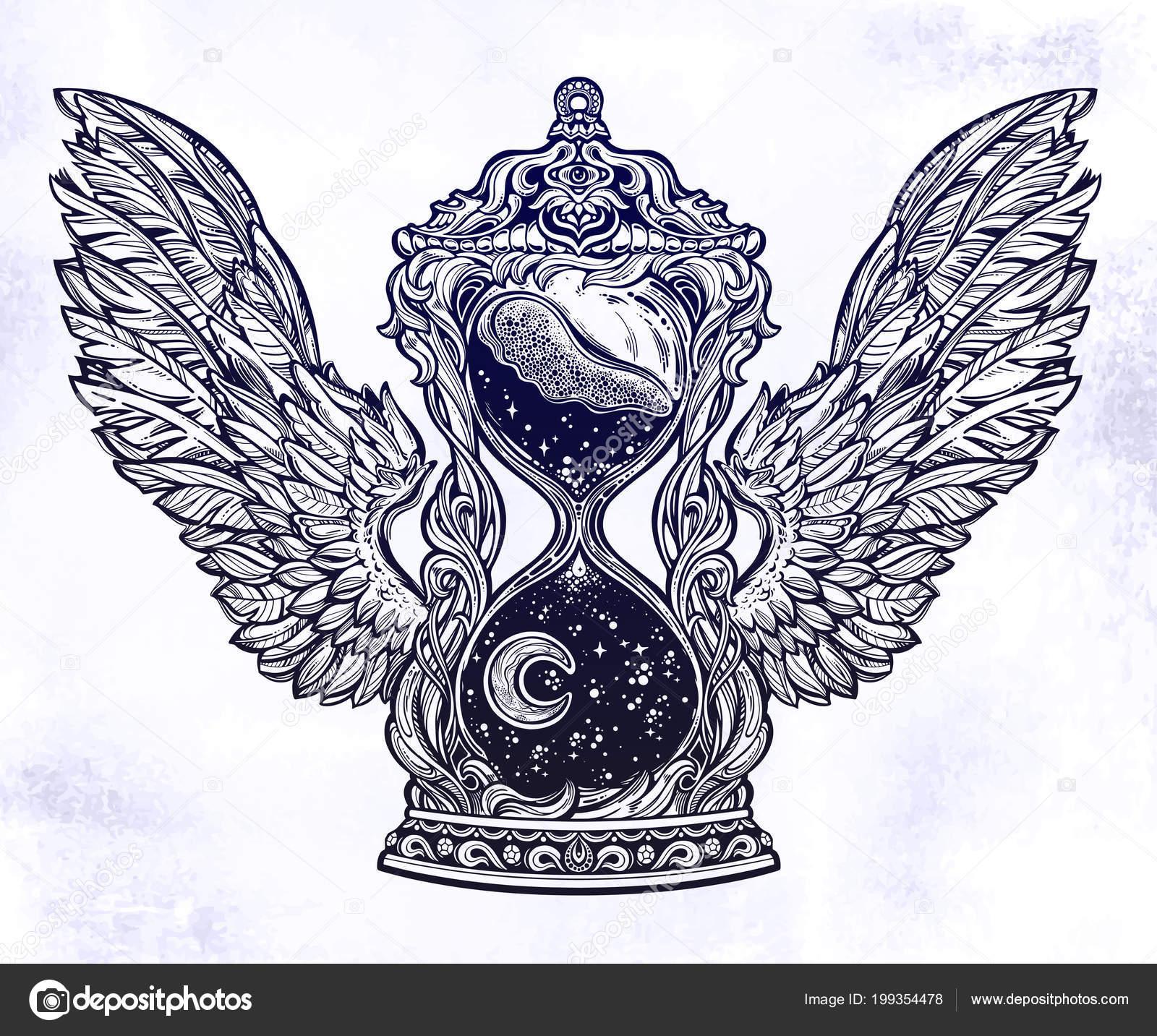 Imágenes Reloj De Arena Para Imprimir Antiguo Decorativo Alas