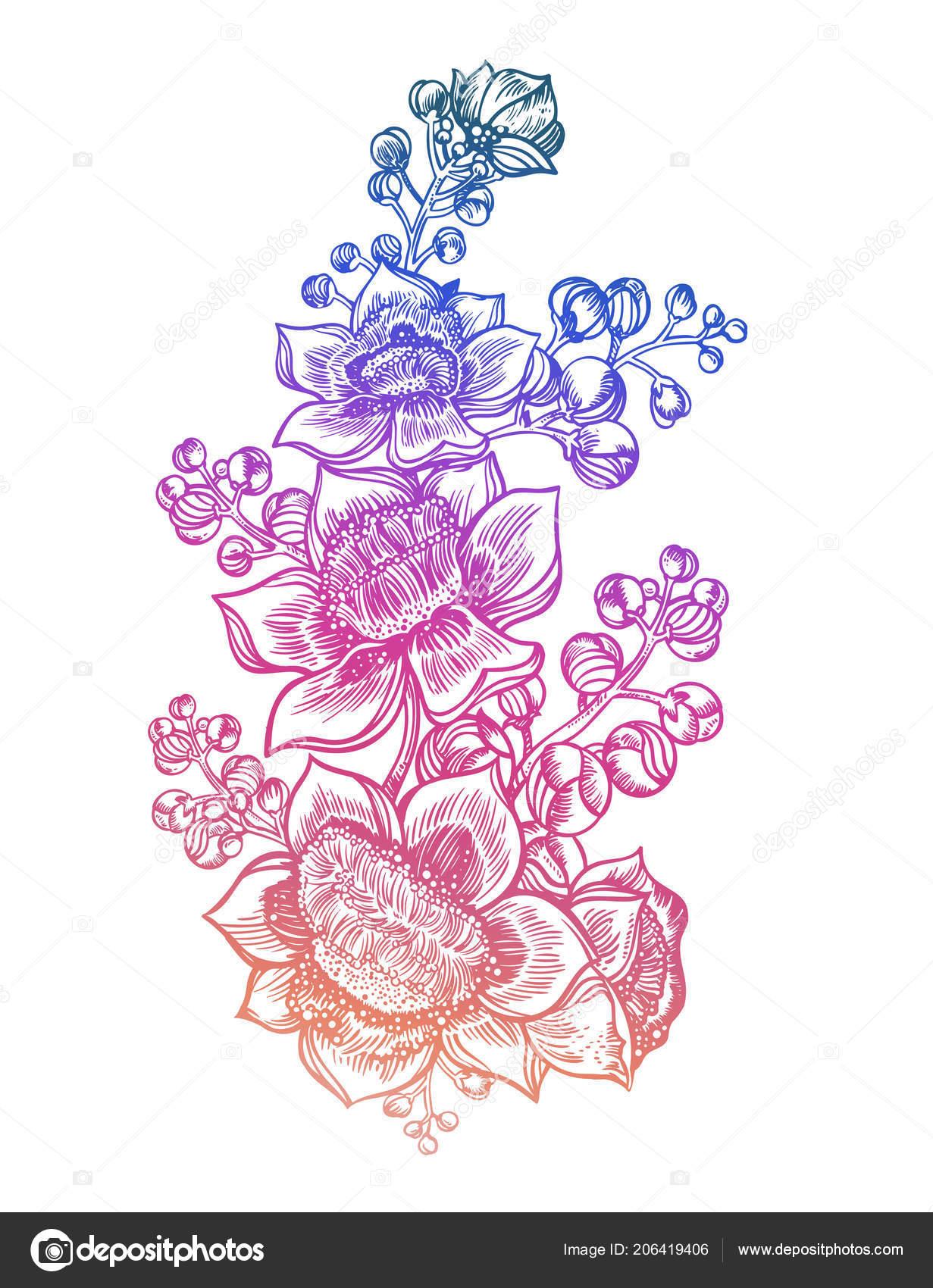 Flores Tropicales Exóticas Flores De Verano Silvestre Tallo Ramo