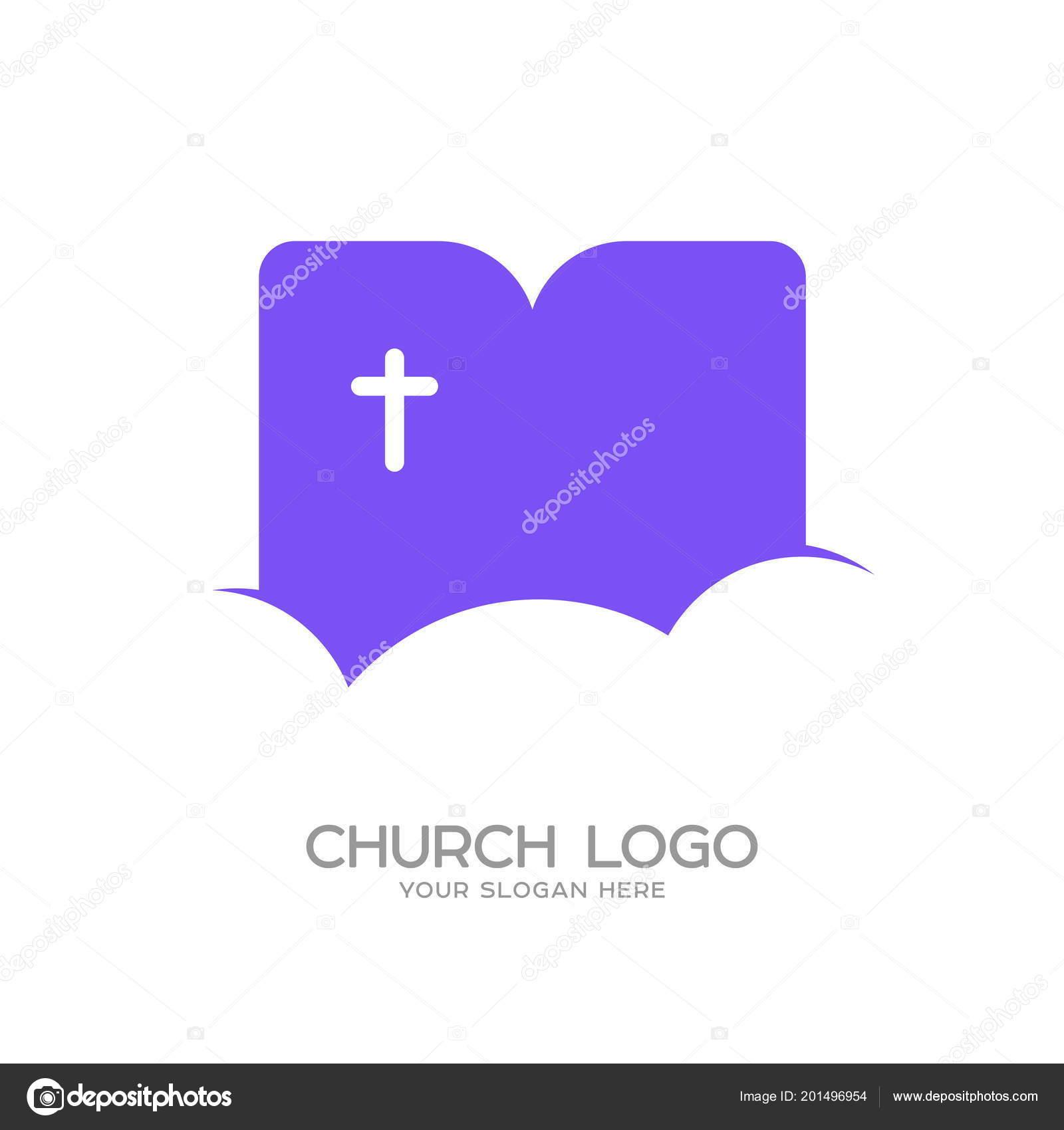 Church Logo Christian Symbols Cross Jesus Christ Background Cloud