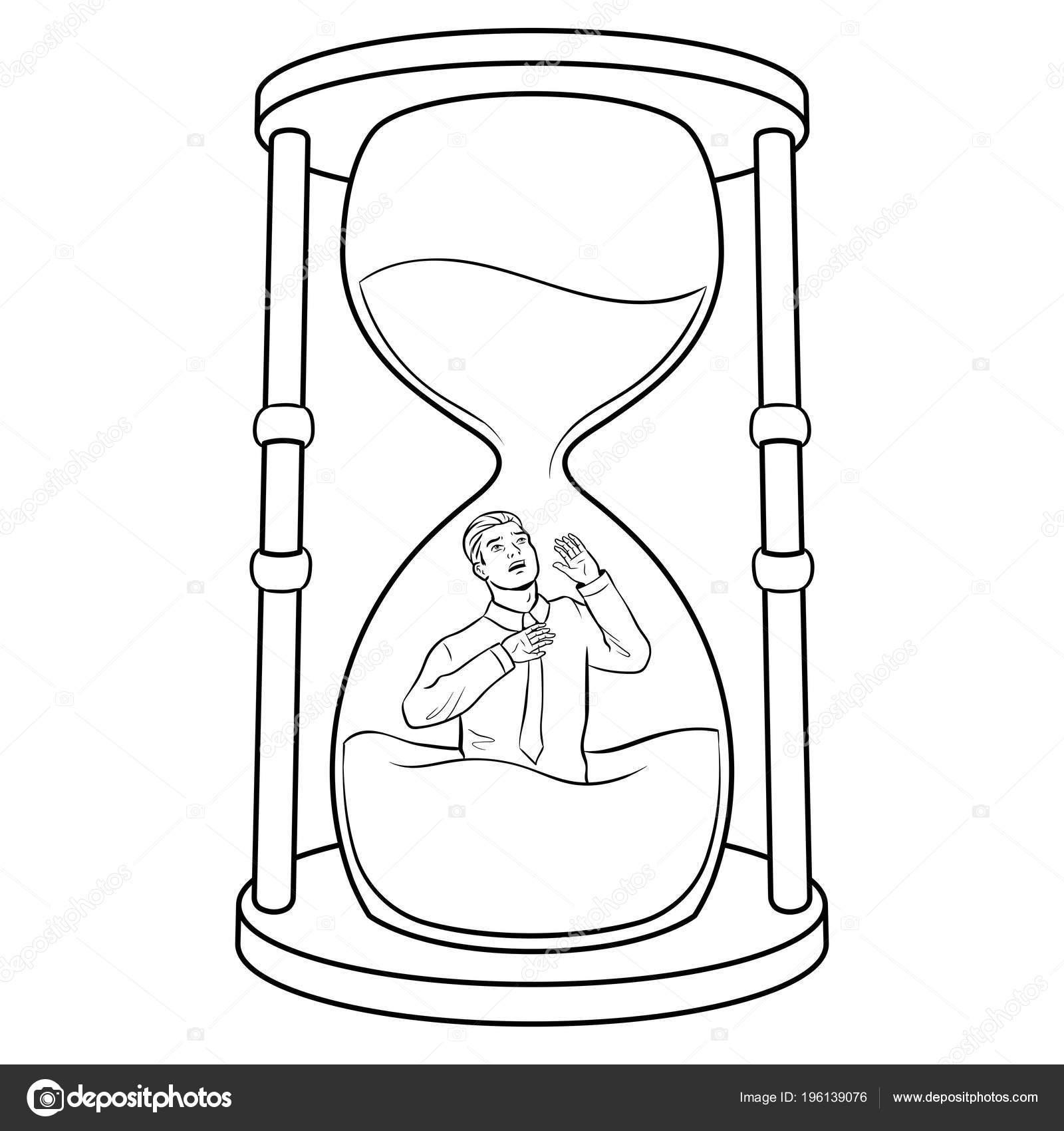 Imágenes Reloj De Arena Para Colorear Vidrio De Reloj