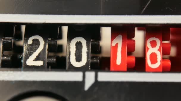 2018-2024 új évet számláló számok. Készlet-ból digitális visszaszámláló időzítővel.
