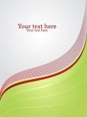 Vertikální zázemí pro firemní obal. Šedý text prostoru odděleno vlnité červené čáry odpočinku. Vektorové ilustrace.