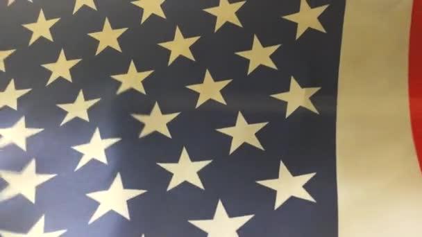 Felvétel az amerikai zászló blow.