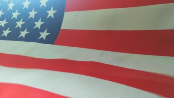 Footage United states of America flag blow.