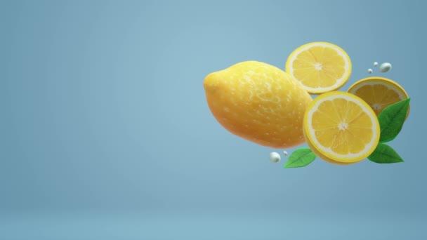 A 3d citrom-objektum, a kék az élelmiszer-felvétel.