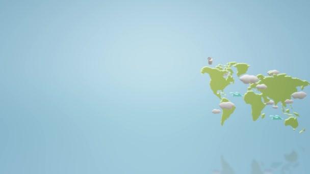 A világ Térkép 3d rendering felvételeket háttér.