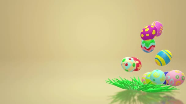 The Easter egg  3d rendering for holiday content.