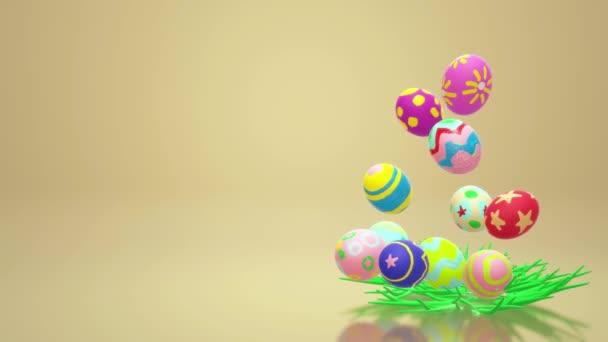 Velikonoční vajíčko 3d vykreslování pro rekreační obsah.