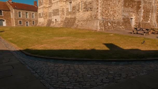 Zavedení shot středověký hrad Dover Kent, století pevnost a také největší hrad v Anglii