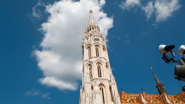 Széles szög lövés, a Mátyás-templom, Budapest, Magyarország, a halász-bástya előtt található római katolikus templom