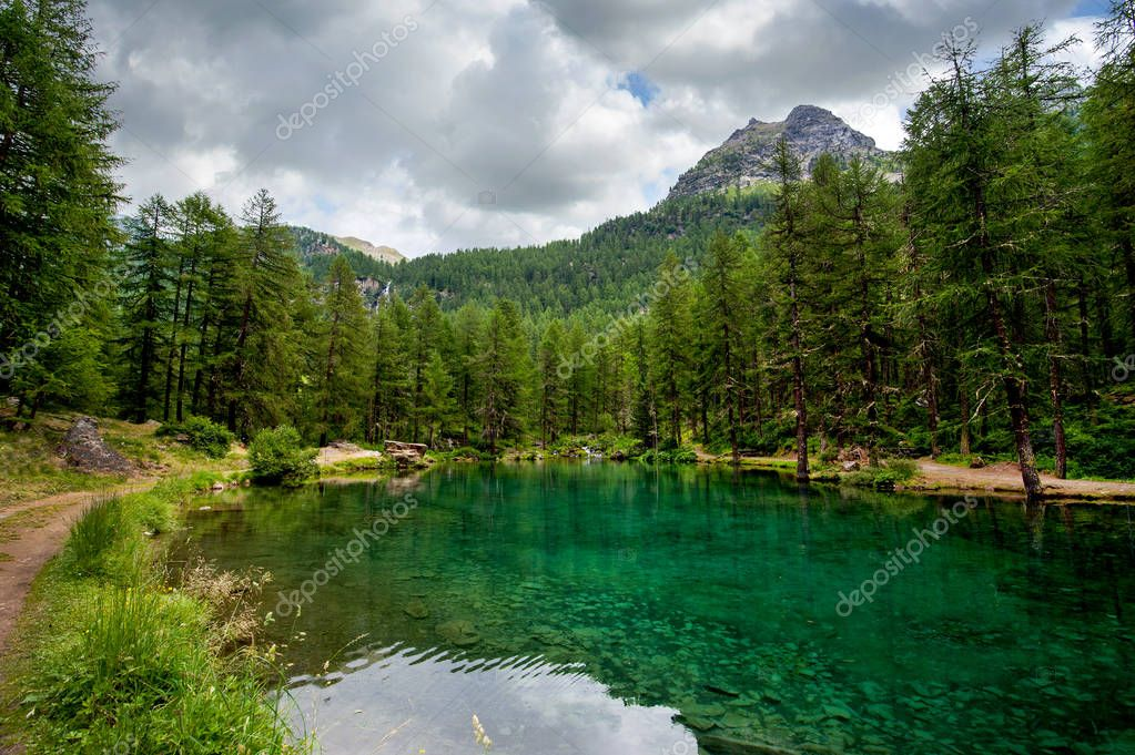 alpine lake Pellaud in Rhemes Notre Dame, Valle dAosta, Italy