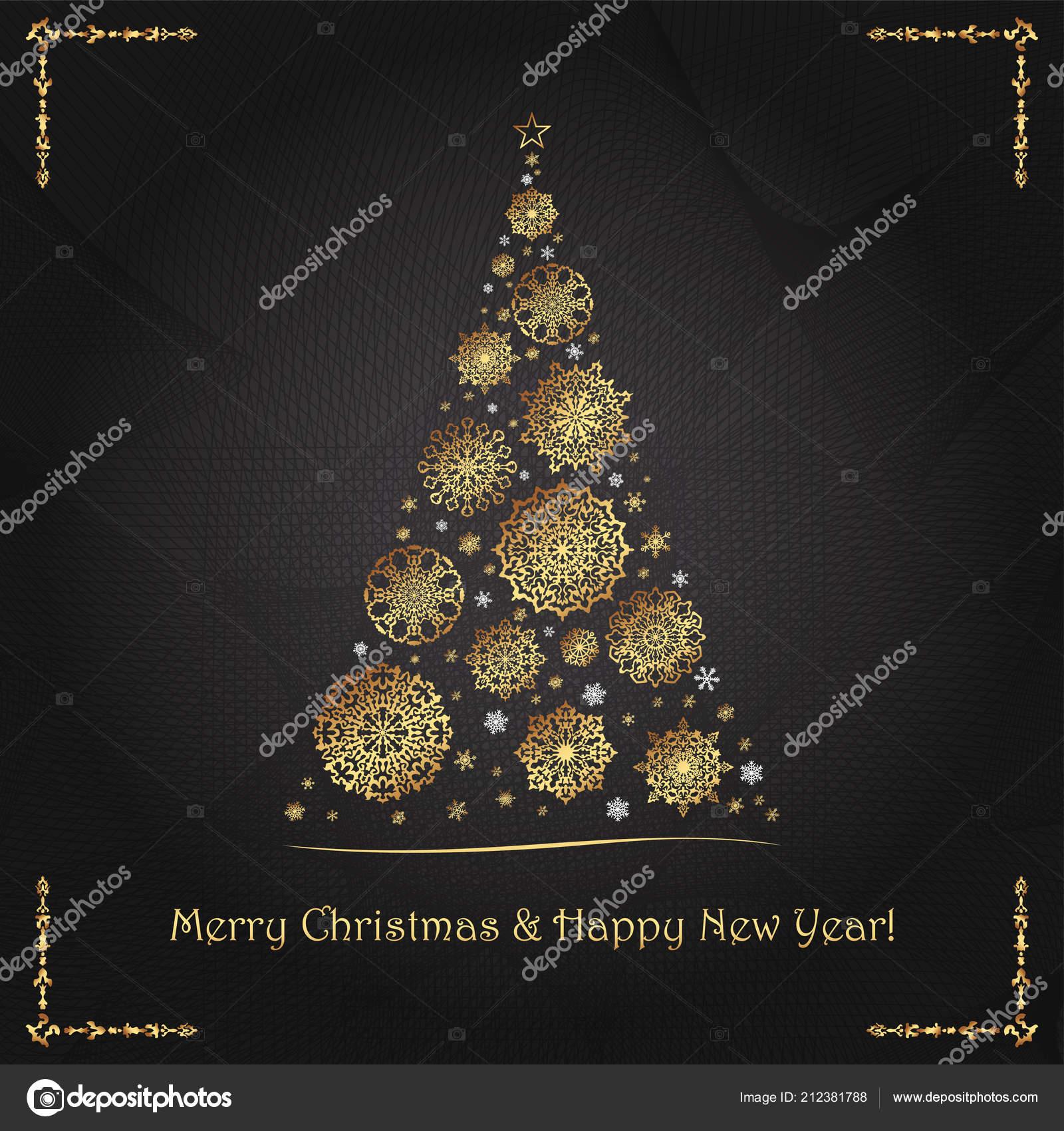 Immagini Per Auguri Natale E Capodanno.Cartolina D Auguri Elegante Lussuosa Per Natale E Capodanno