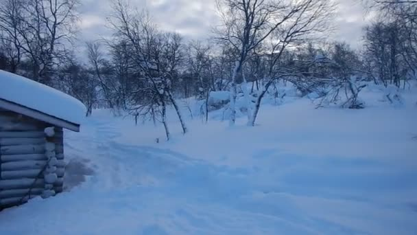 skiing adventure in winter lappland with huts and camping