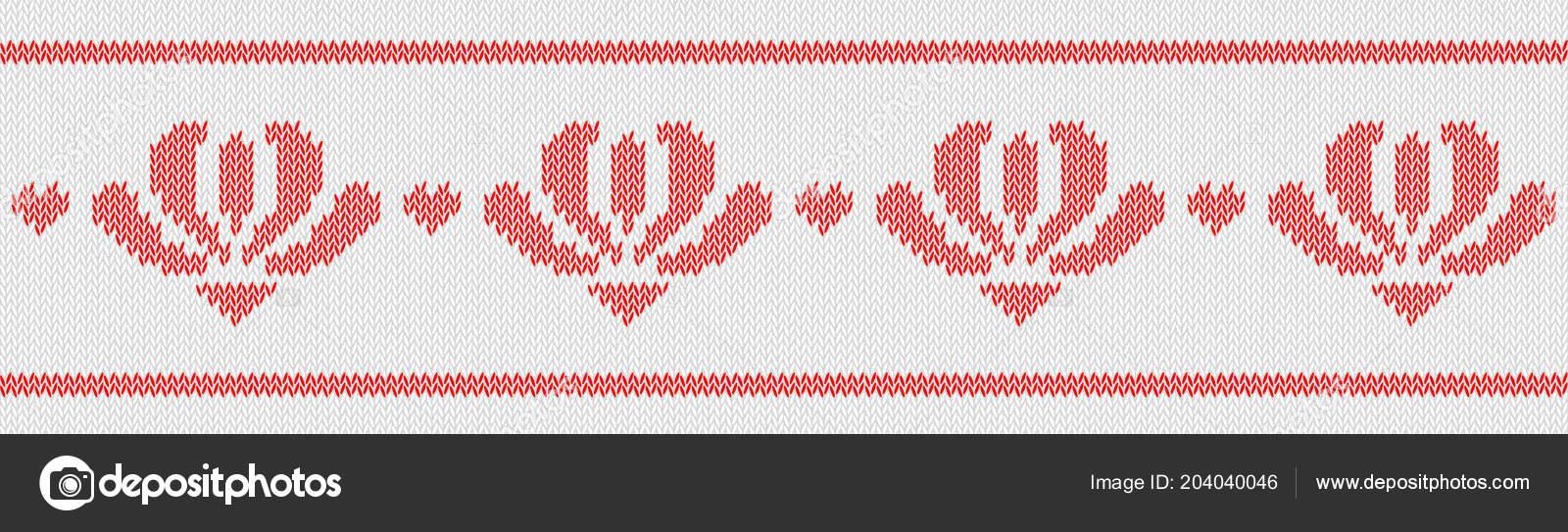 Lanas del telar jacquar tejidos patrón con flores rojas sobre fondo ...