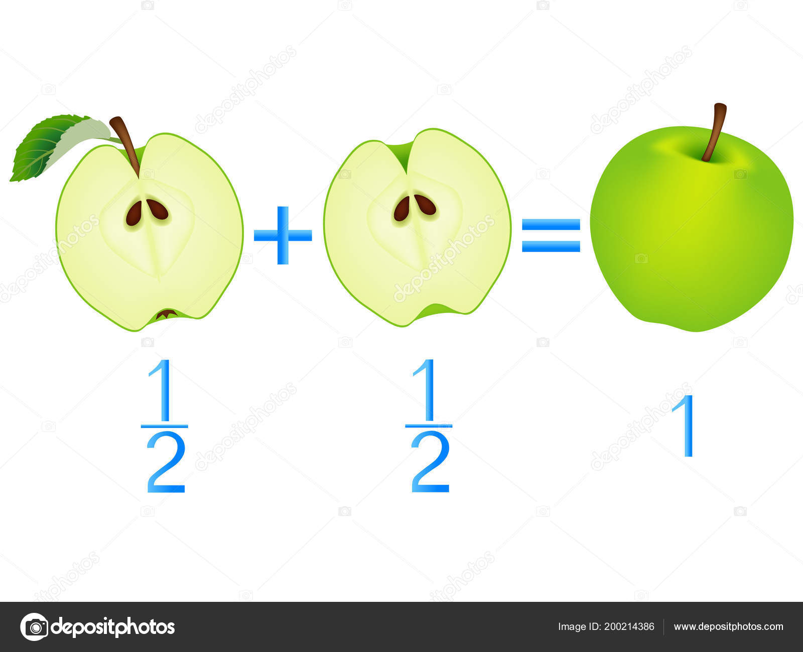 Action Relationship Addition Halves Examples Apples Educational Game