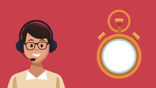 Call centra a zákaznické služby Hd animaci
