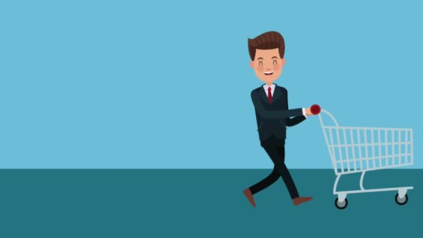 Businessman with giftbox HD animation