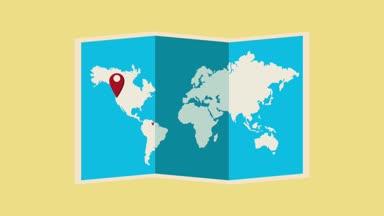 World map europe travel tour illustration animation vacation travel around the world hd animation gumiabroncs Choice Image