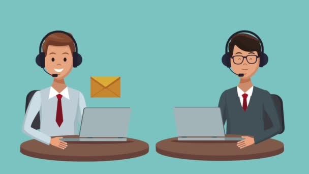 Customer service and call center HD animation