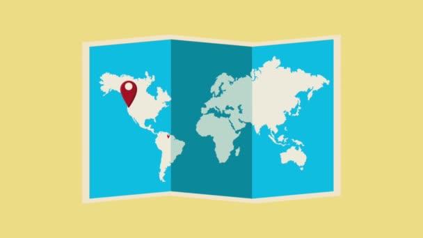 Cestovat po celém světě Hd animaci
