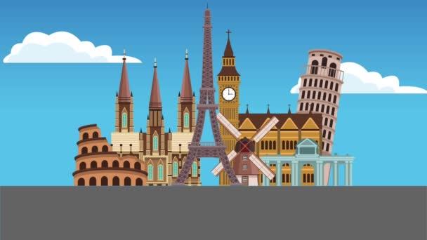 Cestování do Evropy Hd animaci