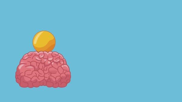 Emberi agy ötlet Hd animáció