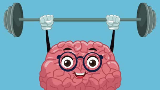 niedlich Gehirn cartoon hd animation