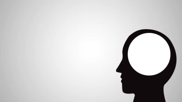 Brain mental health HD animation