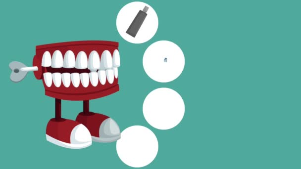 Dental care concept HD animation