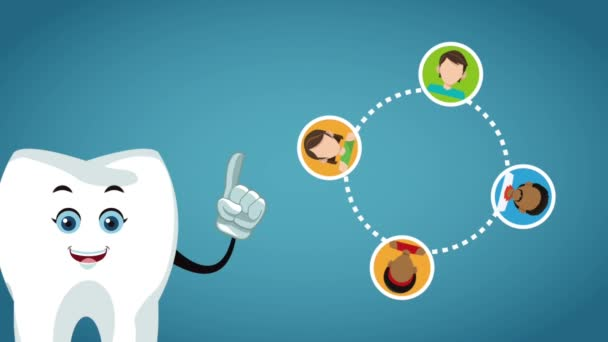 Teeth cartoon and dental hygiene HD animation