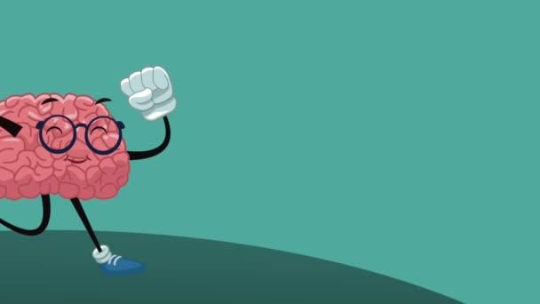 lustige Gehirn Cartoon hd Animation