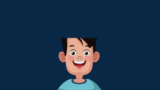 Aranyos és intelligens diák fiú Hd animáció