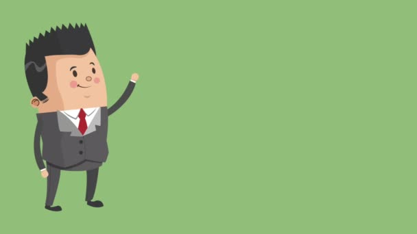 Geschäftsmann executive zeichentrick hd animation