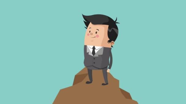 Podnikatel pracovní kreslené animace Hd