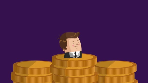 Businessmen and money HD animation