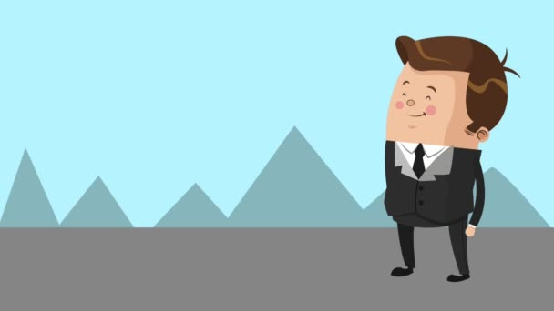 Businessman executive cartoon HD animation