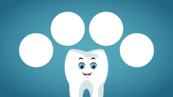 niedlich Zahn zahnärztliche cartoon hd animation