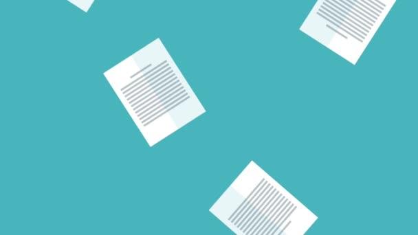 Listy dokumenty spadající Hd animaci