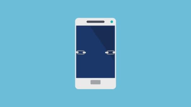 Smartphone und Sicherheitssystem HD-Animation
