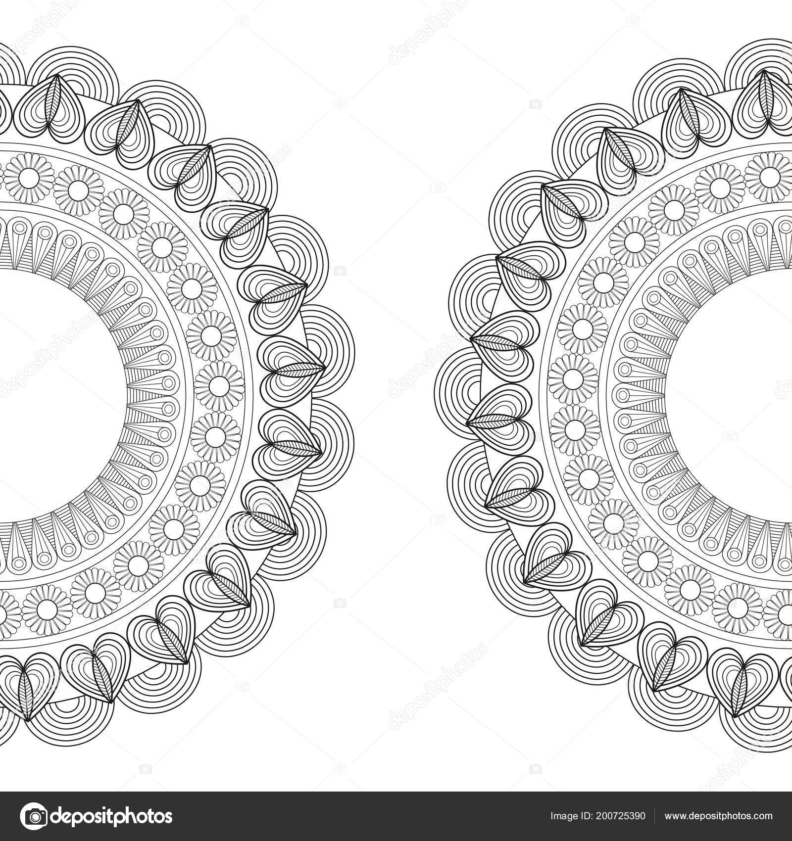 Mandala In Black And White Colors Vector Illustration Graphic Design
