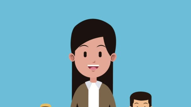 Young people cartoon HD animation